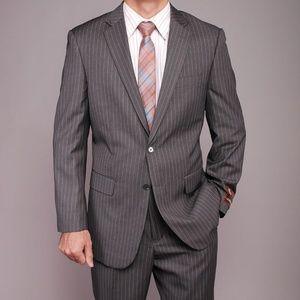 Valentino Grey Pinstripe Blazer Tailored Suit 42
